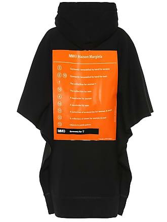 Maison Margiela Printed cotton hoodie dress
