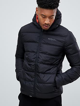 Sixth June puffer jacket with hood in black exclusive to ASOS - Black