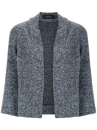 Fillity Cardigan de tricô curto - Cinza