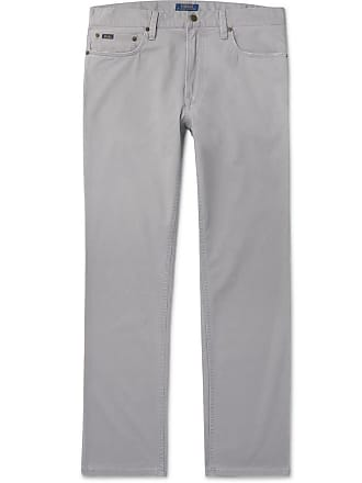Polo Ralph Lauren Slim-fit Stretch Cotton-twill Chinos - Light gray