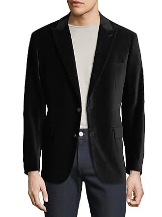 Neiman Marcus Mens Two-Button Velvet Blazer, Black