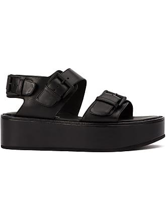 Ann Demeulemeester platform sandals - Black