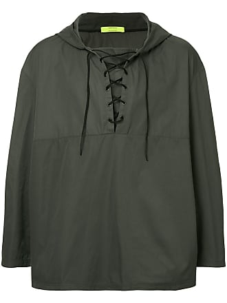 Ex Infinitas Anti-Culture lace-up hoodie - Cinza
