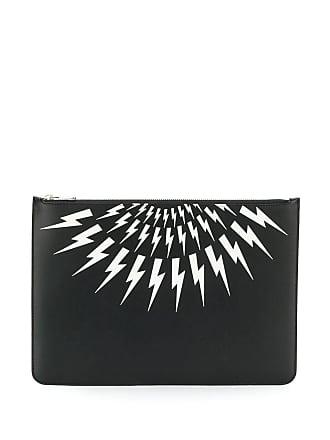 Neil Barrett printed clutch bag - Preto