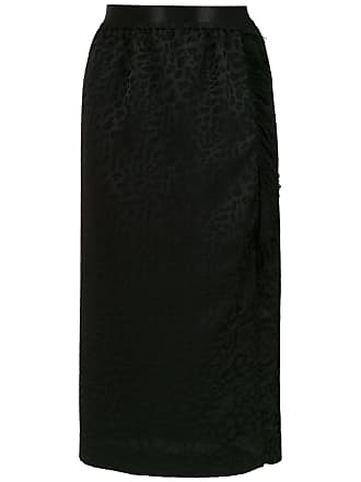 À La Garçonne fringed midi skirt - Black