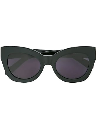 Karen Walker Óculos de sol com armação grossa - Preto