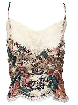 6df96ce3bd28d 1stdibs Voyage 1990s Silk Lace Sz 4 Paisley Flower Print Vintage 90s Crop  Top Shirt