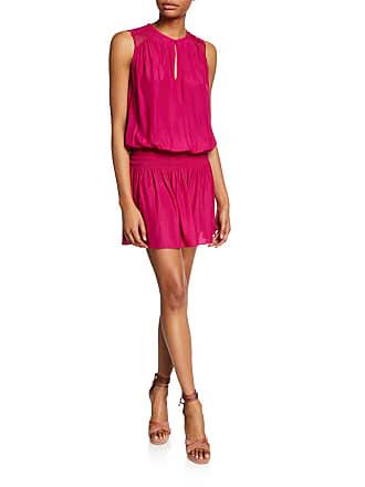 Ramy Brook Sallie Smocked Sleeveless Dress