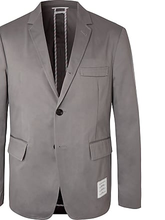 Thom Browne Grey Cotton-twill Suit Jacket - Gray