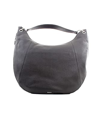 00f4ad28422a DKNY Lulu Guinness Tompson Black Pebbled Leather Hobo Bag Black Leather