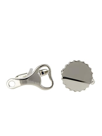 Link Up Base Metal Cap And Open Cuff Links