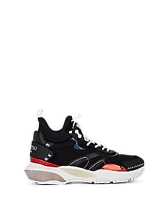 Valentino Mens Mixed-Material Sneakers - Black Size 7 M