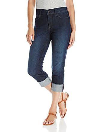 NYDJ Womens Dayla Wide Cuff Capri Jeans with Selvedge Trim, Burbank, 0