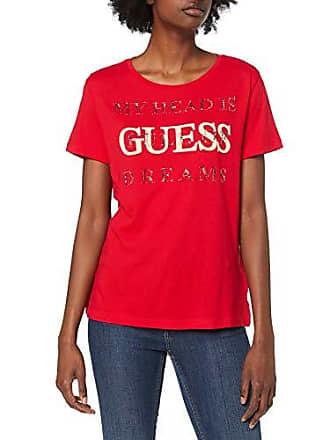 7dced8c1eb5e Guess SS CN Dreams Tee T-Shirt, Rosso (Necessary Red G512),