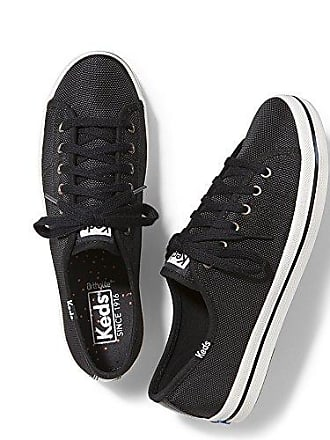 Keds Womens Kickstart Shine Nylon Fashion Sneaker,Black,6 M US
