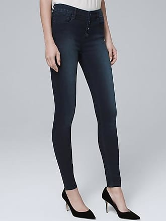 White House Black Market Womens High-Rise Button-Fly Skinny Ankle Jeans by White House Black Market, Medium Wash, Size 14 - Regular