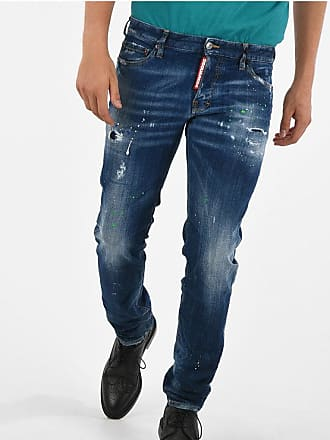 Dsquared2 Jeans SLIM con Schizzi di Vernice 17cm taglia 48