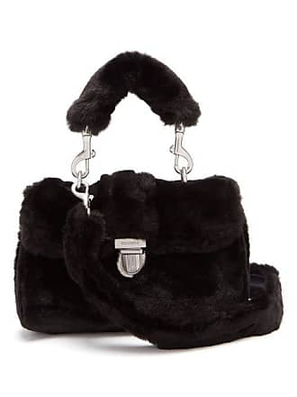 4945b819308a Shrimps Sullivan Mini Faux Fur Satchel Bag - Womens - Black