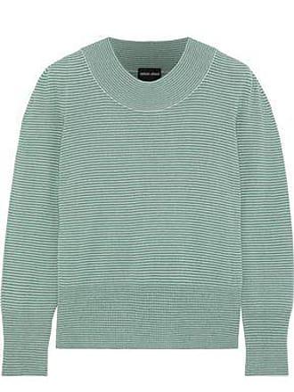 d0f47521f70d1e Giorgio Armani Giorgio Armani Woman Striped Cashmere Sweater Green Size 38