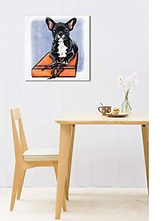 The Oliver Gal Artist Co. The Oliver Gal Artist Co. Oliver Gal Treasure Box Frenchie II Black Dogs and Puppies Wall Art Print Premium Canvas 36 x 36 Orange