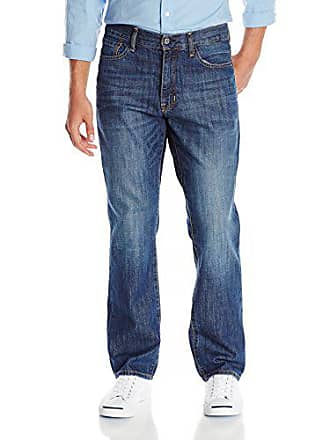 Izod Mens Classic Denim Jeans (Regular, Straight, and Relaxed Fit), Leg Medium Vintage, 42W x 34L