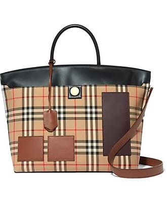 b509b1ac83 Burberry Sac À Main En Coutil De Coton À Carreaux Et À Finitions En Cuir -
