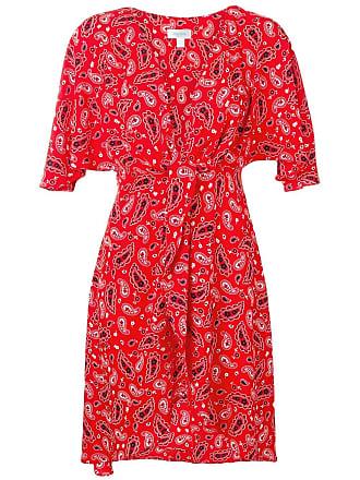 Jovonna London Vestido envelope com estampa paisley - Vermelho
