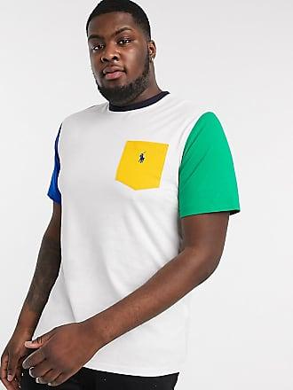 Polo Ralph Lauren Big & Tall - T-shirt colorblock con tasca con logo multi-Multicolore