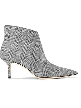 da4d51d384d Jimmy Choo London Marinda 65 Glittered Prince Of Wales Checked Leather  Ankle Boots - Silver