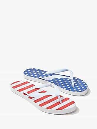 Forever 21 Forever 21 United States Flag Graphic Flip-Flops Blue/red