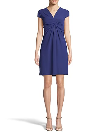 5twelve V-Neck Cap-Sleeve Ruched-Front Dress
