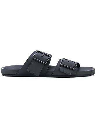 Lanvin flat buckle sandals - Black
