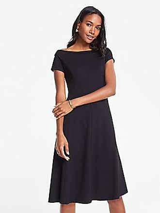 ANN TAYLOR Off The Shoulder Ponte Flare Dress