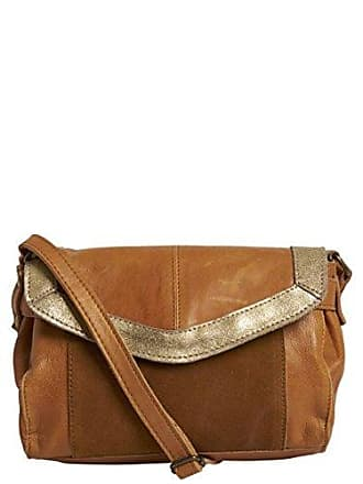 Pieces Pcisaura Leather Small Cross Body, Sacs bandoulière femme, Marron ( Cognac), 657d750606b