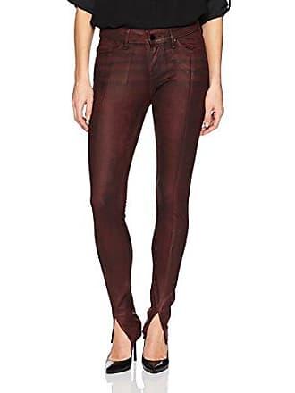 William Rast Womens Kate Moto 5 Pocket Skinny Jean with Front Hem Slit, Oxblood Metador Coating, 26