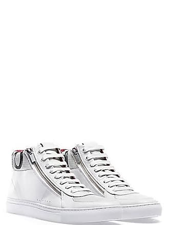9e306d0dd HUGO BOSS High-top trainers in nappa calf leather with logo