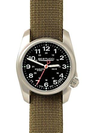 Bertucci A-1S Field Mens Analog Watch Black/Olive 10112