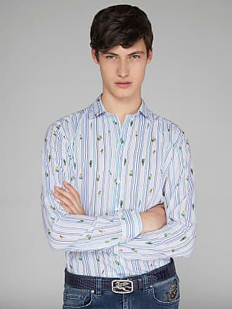 Etro Striped Print Shirt, Man, White, Size 39
