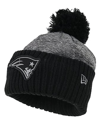d3bfd13411c New Era NFL Grey Collection Pom Knit Bobble Hat (New England Patriots)