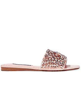 54c1a7ceee96 Alice   Olivia Alice + Olivia Woman Abbey Crystal-embellished Satin Slides  Blush Size 36.5