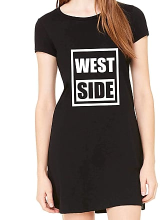 Criativa Urbana Vestido Criativa Urbana Estampado West Side Preto GG