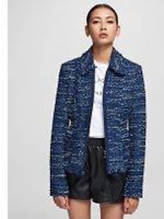 Karl Lagerfeld Blue Bouclé Jacket