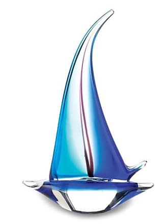 Zingz & Thingz Zingz and Thingz Sailor Boat Art Glass Statue