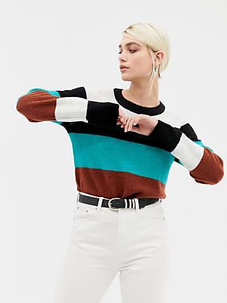 Selected long sleeve fine knit stripe sweater - Multi