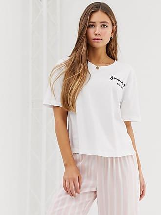 34ea5eada0a05 Asos mix & match stripe pyjama embroidered t-shirt