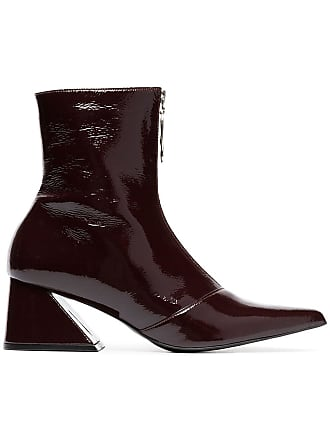 Yuul Yie burgundy 60 zipped patent leather boots - Brown