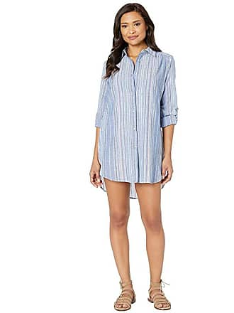 La Blanca Brunch To Boardwalk Button Up Shirtdress Cover-Up (Multi) Womens Swimwear