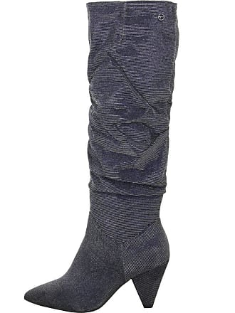 9fd76cb8f27 Tamaris 1-25512-21 864 Womens Navy Glam Blue Boots Longsleeve Boots