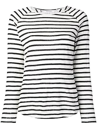 Frame Denim longsleeved striped jumper - Branco
