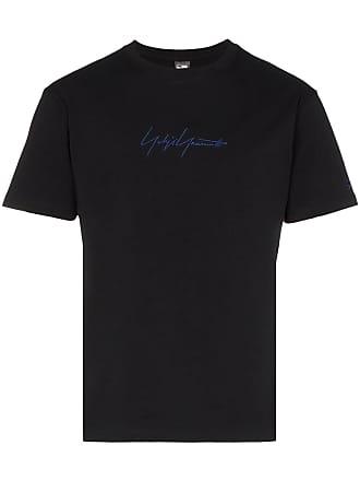 Yohji Yamamoto logo print T-shirt - Black